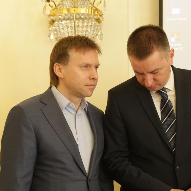 Predsjednik Vlade s članovima Upravnog odbora Fortenova grupe Maksim Poletaev i Fabris Peruško